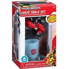 Transformers Toothbrush Holder and Cup Prime Great Smile Set 3 years & Older New