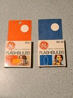 Vintage General Electric No. AG-1 & AG Flash Bulbs Lot with original box