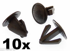 10x Black Plastic Blanking Plugs for Dashboards & Interior Trim For 10-16mm Hole