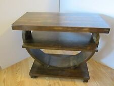 Solid Wood Art Deco Coffee End Side Table 1950's Maple Brown Mid century 1950's