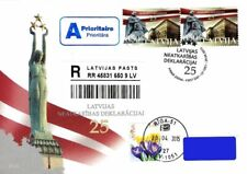 Latvia 2015 (10) Declaration of Independence - 25 years (addressed fdc)