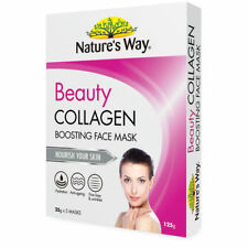 NATURE'S WAY BEAUTY COLLAGEN BOOSTING FACE MASKS 5 X 25G ANTI-AGEING NATURES WAY