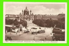 Wien - Stadtbahnhaltestelle Karlsplatz, Karlskirche, Hochschule - ungel. 1908