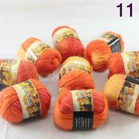 Sale Lot 8 Skeins NEW Knitting Yarn Chunky Hand-woven Colorful Wool scarves 11