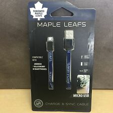 NEW,NHL Maple Leafs Micro USB Flat Cable Compatible w/ Androids,Blackberry, Kobo