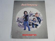 BAD COMPANY British Tour   1979 UK Souvenir Programme