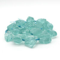 "15"" Fashion Natural stone aquamarine Freeform Beads 20-28mm Mid Drilled"