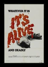 IT'S ALIVE ORIGINAL FOLDED MINT MOVIE POSTER 1974 STYLE A LARRY COHEN HORROR
