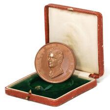 Italy Composer Gaspare Spontini Bronze Portrait Medal w/Case 1829 XF+