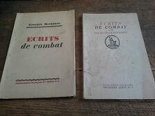 écrits de combats  Bernanos problèmes français 2ème série n° 5 + 3ème série n° 1