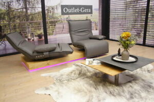 KOINOR Modell EPOS 3 Sofa C in Leder grau