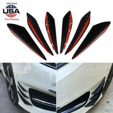 6Pcs Universal Carbon Fiber Canards Auto Car Front Bumper Fins Spoiler Refit New