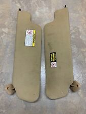 1997-1999 Ford F-150 Driver And Passenger Sun Visor Set Cloth OEM Tan CLEARENCE