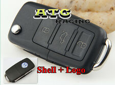 3 Buttons Car Folding Remote Flip Key Shell Case for VW Golf Passat Jetta GTI