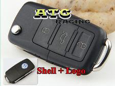 3 Buttons Car Folding Remote Flip Key Shell Case for VW Golf Passat Jetta GTI