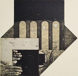 IVAN RUSACHEK, Art Print, Original Hand Signed Etching, Ex Libris Bookplate,2018