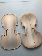 1 PC 4/4 violin top old spruce top with bass bar F holes carved half finished