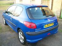 PEUGEOT 206 STYLE 1.1 BLUE 2003 REG 3 DOOR EGJ BREAKING SPARES PARTS TYRE WHEEL