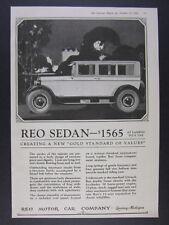 1925 REO Motor Car Sedan illustration art vintage print Ad