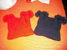 boys hand knitted hats for twins,9-12 months.
