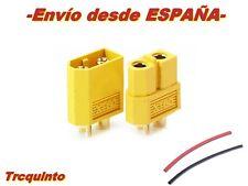 Conector bateria  XT60 (60Amp) (H & M), radiocontrol y robótica + Termorretrac.