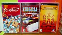 Scrabble Pinball Hall Fame Chessmaster - Sony PSP Playstation Portable Game Lot