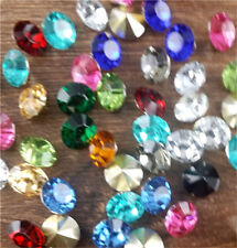 30Pcs8mm High quality Mix Crystal beads Point back Rhinestones Glass Chatons