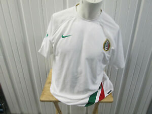 VINTAGE NIKE MEXICO NATIONAL TEAM LARGE WHITE SEWN HOME JERSEY 2006/2007 KIT