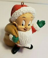 Vintage 1993 Elmer Fudd Hallmark Resin Ornament with Box Looney Tunes