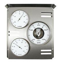 Fischer Wetterwarte außen,Barometer,Thermometer,Hygrometer,Edelstahl,818-01
