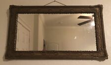 1800�s Vintage Antique Wooden Hand Crafted Framed Mirror