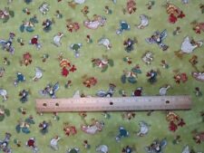 2 Yards Green Mouse Chicken/Duck/Bird Henry Glass No Fowl Play Cotton Fabric