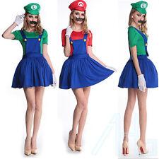 da donna UK MARIO LUIGI Costumi Adulto Super Idraulico Bros 4 6 8 10 12 14 16
