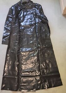 Rubber SBR double breasted shiny Hussar Style raincoat mackintosh - big discount