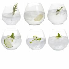 Dartington Crystal Party Time Gin and Tonic Copa/Six Stemless Glasses - 440ml
