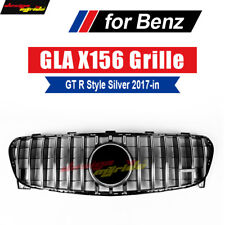 GLA class GLA200 250 260 AMG45 GT R Style Grille for Mercedes Benz X156 Silver