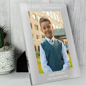 Personalised 1st First Holy Communion 7x5 Photo Frame, Engraved Keepsake Gift