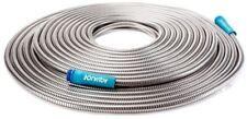 Metal Garden Water Hose Stainless Steel Flexible Light Sun Joe AJSGH100 100 ft