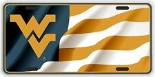 WVU Waving Flag Souvenir License Plate SVWVU002-1