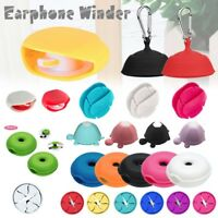 Mini Earphone Holder Cable Carrying Winder Hard Stretch Organizer Earbud Storage