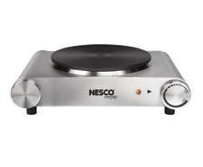 Nesco Electric Ceramic Burner Hot Plate 7.4 in. Diameter Cooktop Stainless steel
