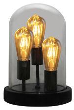 Tisch Lampe Leuchte Retro Vintage Industrie Design INDUS schwarz matt antik NEU