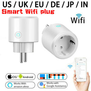 WiFi Smart Plug Switch Wall Outlet Socket Alexa Google Home Work Remote Control