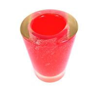 50er Murano Zylinder Vase 2,8kg Sommerso Orange Mid Century Art Glass Italy 50s
