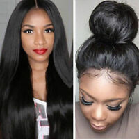 Human Long Straight Hair Full Lace Front Wig Black Women Glueless Wigs Baby Hair