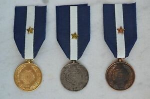 Greece greek police medals post 1974 issue,1st,2nd and 3rd class (reproductions)