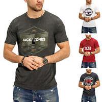 Jack & Jones Herren T-Shirt Print Shirt Kurzarmshirt Short Sleeve Stretch Casual