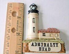#10159 Lefton China Vintage Admiralty Head Lighthouse Refrigerator Magnet 1995