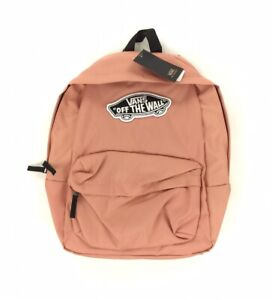 NEW Vans Off The Wall Realm Solid Backpack Bag Rose Dawn Pink Laptop Sleeve