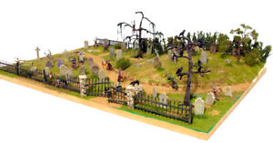 Renedra Gravestones and Ravens - model railway, wargames scenery 28mm 1:50